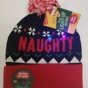 09b8b2223256c Wembley Accessories - Naughty or Nice Christmas Light Up Beanie Hat NWT